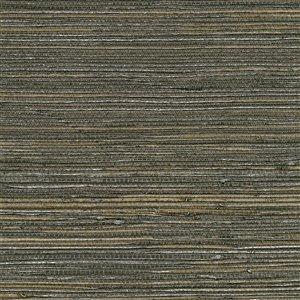 Papier peint non encollé en toile de ramie Canton Road par Kenneth James, 72 pi², chocolat