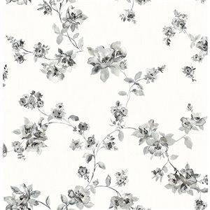 Papier peint encollé non tissé Farmhouse par Chesapeake, 56,4 pi², noir et blanc