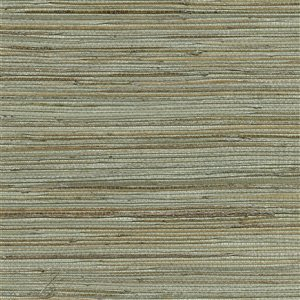 Kenneth James Canton Road Unpasted Grasscloth Wallpaper - 72-sq. ft. - Sea Green