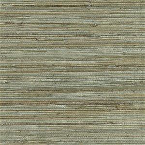 Papier peint non encollé en toile de ramie Canton Road par Kenneth James, 72 pi², vert