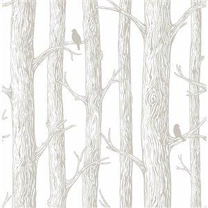 Papier peint autoadhésif en vinyle par NuWallpaper, 30,75 pi², blanc