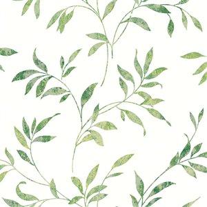 Papier peint encollé The Vineyard par Chesapeake, 56,4 pi², vert