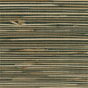 Papier peint non encollé en toile de ramie Canton Road par Kenneth James, 72 pi², noir