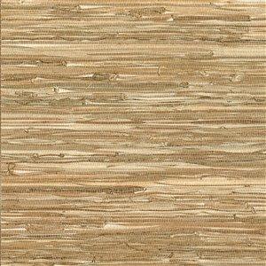 Papier peint non encollé en toile de ramie Zen par Kenneth James, 72 pi², brun pâle