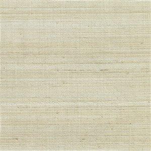 Papier peint non encollé en toile de ramie Canton Road par Kenneth James, 72 pi², beige clair