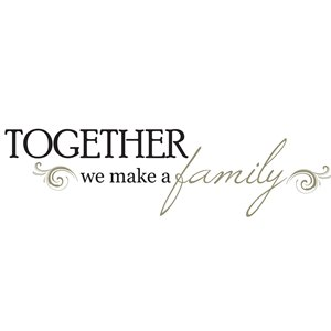 WallPops Together Quote Self-Adhesive Wall Sticker - 17.25-in x 19.5-in