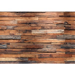 Ideal Décor Reclaimed Wood Wall Mural - Unpasted - 100-in x 144-in