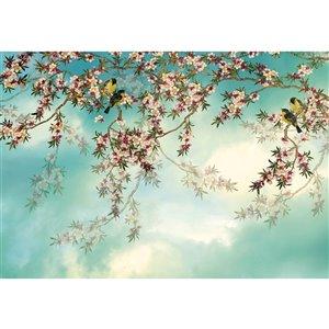 Peinture murale de Sakura Komar, non encollée, 100 po x 145 po