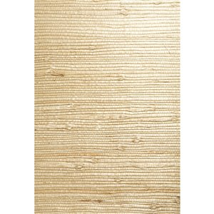 Kenneth James Jade Unpasted Grasscloth Wallpaper - 72-sq. ft. - Beige and Off-White