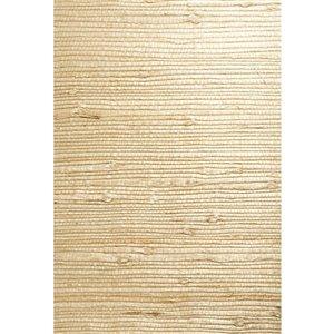 Papier peint non encollé en toile de ramie Jade par Kenneth James, 72 pi², beige et blanc cassé