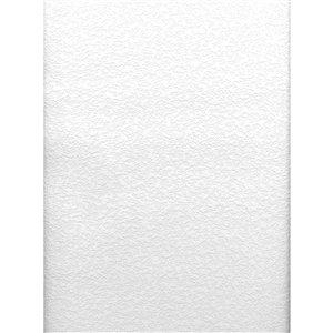 Papier peint encollé en vinyle Stinson Solutions V par Brewster, peut être peint, 56,4 pi², blanc