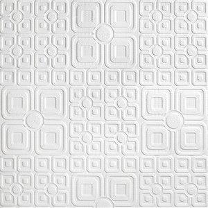 Papier peint non encollé en vinyle Luxe Anaglypta X par Brewster, peut être peint, 57,5 pi², blanc