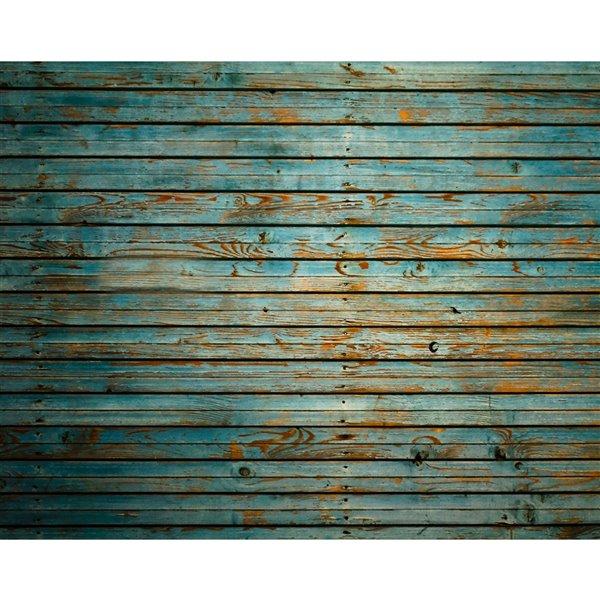 Peinture murale au motif de bois délavé ohpopsi, non encollée, 118 po x 94 po