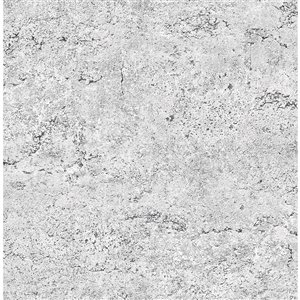Papier peint non encollé et non tissé Concrete Reclaimed par A-Street Prints, 56,4 pi², gris clair