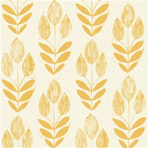 Beacon House Simple Space 2 Unpasted Nonwoven Wallpaper - 56.4-sq. ft. - Yellow and Beige
