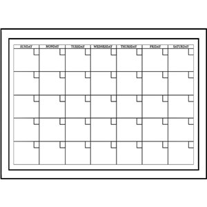WallPops Medium Monthly Calendar Self-Adhesive Wall Sticker - 48-in x 17.5-in - Set of 2