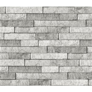 Brewster Stone Self-Adhesive Peel and Stick Backsplash Tile - 18-in x 108-in