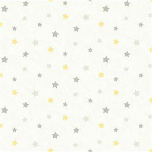 Papier peint encollé Hide And Seek par Chesapeake, 56,4 pi², gris pâle