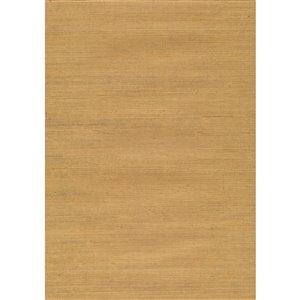 Papier peint non encollé en toile de ramie Jiangsu par Kenneth James, 72 pi², beige