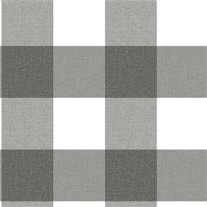 Papier peint encollé Farmhouse par Chesapeake, 56,4 pi², noir