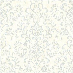 Papier peint encollé Countryside par Chesapeake, 56,4 pi², blanc cassé