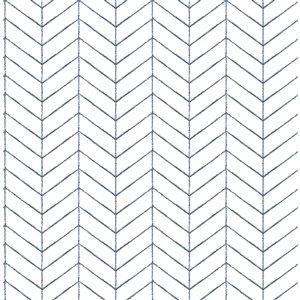 Papier peint encollé non tissé Birch & Sparrow par Chesapeake, 56,4 pi², blanc et bleu marin