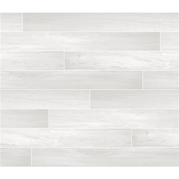 Brewster Timber Wood Self-Adhesive Peel and Stick Backsplash Tile - 18-in x 108-in