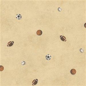Papier peint encollé Totally For Kids par Chesapeake, 56,4 pi², beige