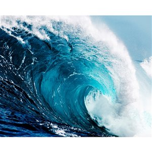 Wall Rogues Ocean Waves Wall Mural - Unpasted - 118-in x 94-in