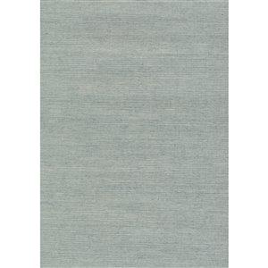 Papier peint non encollé en toile de ramie Jiangsu par Kenneth James, 72 pi², bleu pâle