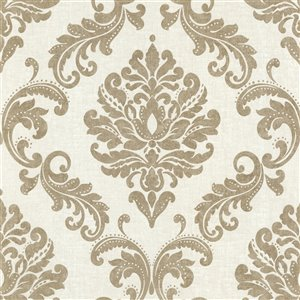 Beacon House Zinc Unpasted Nonwoven Wallpaper - 56.4-sq. ft. - Gold