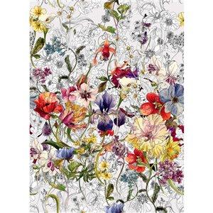 Komar Flora Wall Mural - Unpasted - 100-in x 72-in