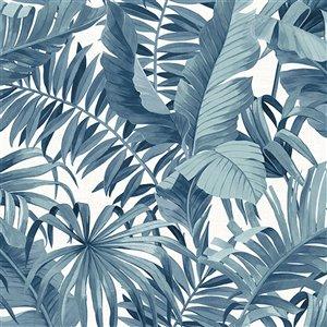 NuWallpaper Maui Self-Adhesive Vinyl Wallpaper - 30.75-sq. ft. - Blue