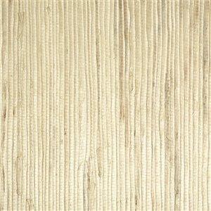 Kenneth James Jade Unpasted Grasscloth Wallpaper - 72-sq. ft. - Cream