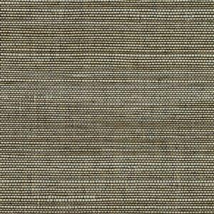 Papier peint non encollé en toile de ramie Canton Road par Kenneth James, 72 pi², brun