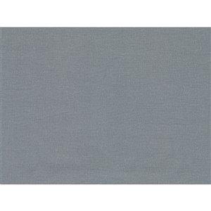 Papier peint non encollé en vinyle Cortina IV par Warner Textures, 60,8 pi², bleu-gris
