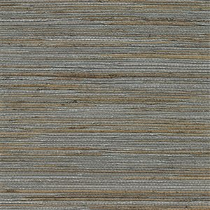 Kenneth James Canton Road Shandong Unpasted Grasscloth Wallpaper - 72-sq. ft. - Slate