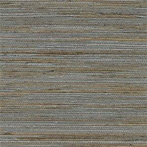 Papier peint non encollé en toile de ramie Shandong Canton Road par Kenneth James, 72 pi², ardoise