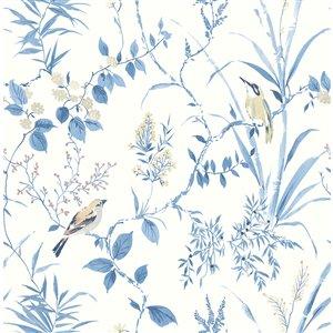 Papier peint encollé non tissé The Vineyard par Chesapeake, 56,4 pi², bleu