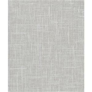 Papier peint non encollé en vinyle Cortina IV par Warner Textures, 60,8 pi², gris