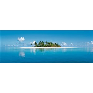 Ideal Décor Maldive Island Wall Mural - Unpasted - 50-in x 144-in