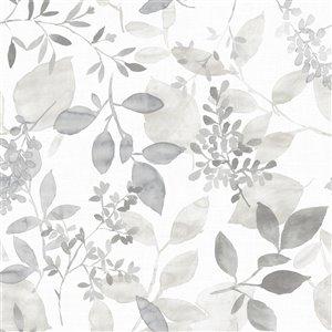 NuWallpaper Brezzy Self-Adhesive Vinyl Wallpaper - 30.75-sq. ft. - Grey