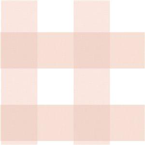 Papier peint encollé Farmhouse par Chesapeake, 56,4 pi², rose pâle