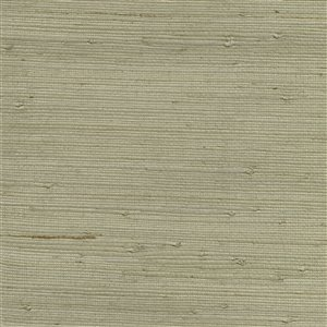 Papier peint non encollé en toile de ramie Qiantang Canton Road par Kenneth James, 72 pi², gris