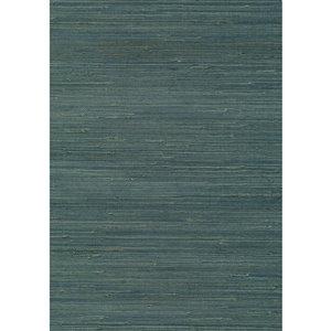 Papier peint non encollé en toile de ramie Jiangsu par Kenneth James, 72 pi², sarcelle