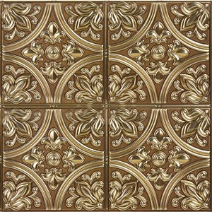 InHome Abstract Self-Adhesive Peel and Stick Tile - 20-in x 20-in - Bronze - 4-Piece