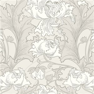 Wall Vision In Bloom Unpasted Nonwoven Wallpaper - 57.8-sq. ft. - Grey