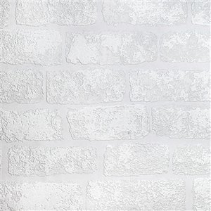 Brewster Anaglypta X Lincolnshire Unpasted Vinyl Wallpaper - Paintable - 57.5-sq. ft. - White