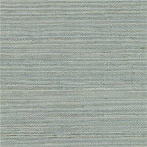 Papier peint non encollé en toile de ramie Zheijiang Canton Road par Kenneth James, 72 pi², bleu pâle