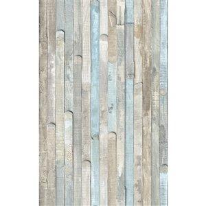 Décalque mural auto-adhésif effet bois décoloré de DC Fix, 157,48 po x 17,7 po, ens. de 2